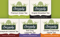 Seriously Tea Logo & Packging