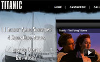 Titanic Movie Website